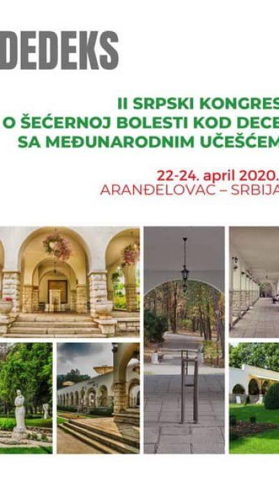 drugi srpski kongres o šećernoj bolesti kod dece